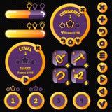 Livello alla moda dorato del woth dell'interfaccia del gioco Immagine Stock