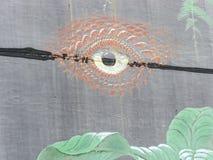 Livello artistico su un segno del bordo della strada Fotografia Stock