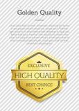 Livello Choice esclusivo di qualità dorata migliore alto Immagini Stock