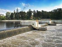 Livello d'acqua del fiume, Immagine Stock Libera da Diritti