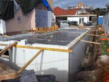 Livello del suolo, costruzione della nuova casa Immagini Stock