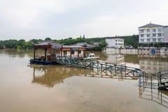 Livello dell'alta marea di fiume esterno di qinhuai Immagine Stock