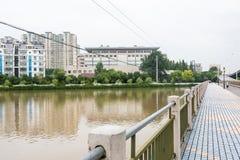 Livello dell'alta marea di fiume esterno di qinhuai Immagine Stock Libera da Diritti