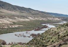 Livello dell'alta marea, il fiume Truckee Immagine Stock