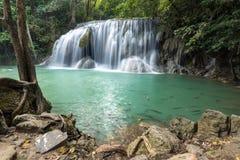 Livello idilliaco 1 della cascata di Erawan Fotografia Stock
