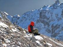 Livello nelle montagne Fotografie Stock