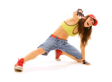 Lively dancer Stock Images