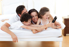 Lively family having fun Stock Image
