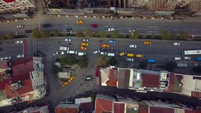 Lively Istanbul Turkey on a sunny day. View of Istanbul Turkey from the sky on a sunny day stock footage
