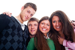 Lively picture of merry young people Royalty Free Stock Photography