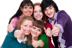 Lively portrait of young happy people Stock Images