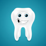 Lively smiling healthy tooth Royalty Free Stock Photo