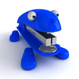 Lively Stapler. (with big eyes and feet) is brave dog and constant friend. 3D render. This concept art was invented by me Royalty Free Stock Photography