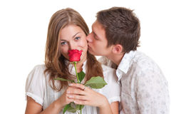 Lively young couple Royalty Free Stock Photos