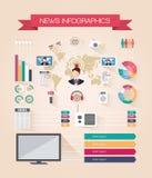 Livenachrichten Infographics Stockbilder