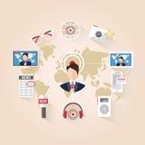 Livenachrichten, Journalismus, Fernsehen Stockfotos