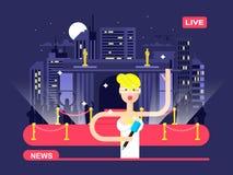 Livenachrichtenreporter lizenzfreie abbildung