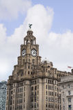 The Liver Birds on the Liver Building In Liverpool England Stock Photos