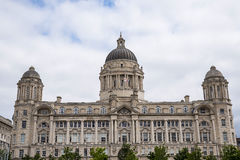 The Liver Birds on the Liver Building In Liverpool England. Liverpool is a maritime city in northwest England, where the River Mersey meets the Irish Sea. A key Stock Images