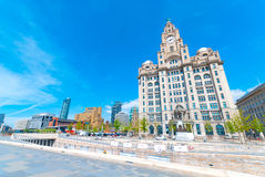 Liver Building. Iconic Liver Building in Liverpool, England, UK royalty free stock photography
