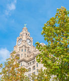 Liver Building. Iconic Liver Building in Liverpool, England, UK royalty free stock image
