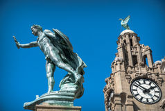 Liver Building Statue Stock Photo