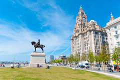 Liver Building with a statue Royalty Free Stock Images