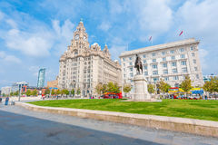 Liver Building with a statue Royalty Free Stock Photo