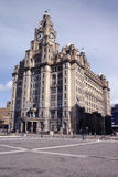 Liver Buildings. In Liverpool stock photography