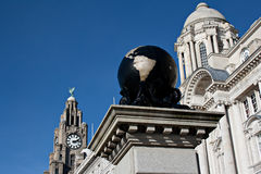 Liver Buildings Liverpool Stock Photography