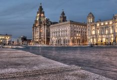 Liver Buildings Liverpool royalty free stock photos