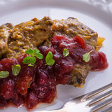 Liver with Cranberries Royalty Free Stock Image