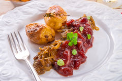 Liver with Cranberries Royalty Free Stock Photo
