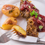 Liver with Cranberries Stock Photography