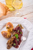 Liver with Cranberries Royalty Free Stock Photos