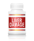Liver damage concept. Stock Photography
