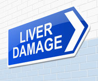 Liver damage concept. Royalty Free Stock Photos