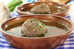 Liver dumpling soup Royalty Free Stock Images