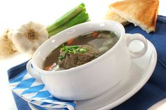 Liver dumpling soup Royalty Free Stock Photos