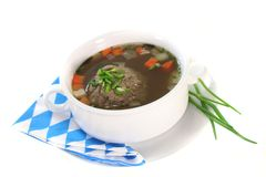 Liver dumpling soup Royalty Free Stock Photos