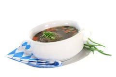Liver dumpling soup Stock Images