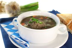 Liver dumpling soup Royalty Free Stock Photography