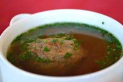 Liver dumpling soup Royalty Free Stock Photo