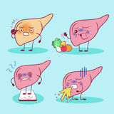 Liver with health problem Stock Photo