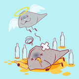 Liver with health problem Stock Images