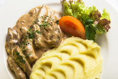 Liver with mashed potatoes Stock Photography