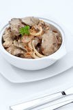Liver with mushrooms Royalty Free Stock Photos