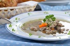 Liver noodle soup Stock Images