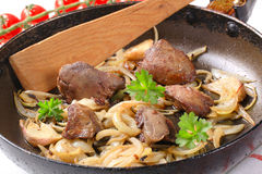 Liver and onions Royalty Free Stock Photography