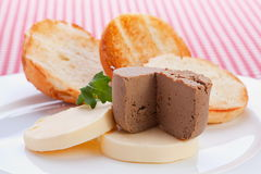 Liver pate with butter Royalty Free Stock Photo